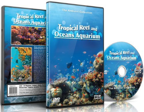 Aquarium DVD - Tropical Reef & Oceans Aquarium with Colorful Corals & Fishes (Background Aquarium Dvd)