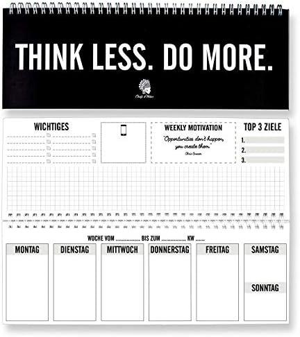 CHIEFS & TRIBES® Tischkalender I Wochenkalender im Quer-Format I 52 Wochen, 1 Woche 2 Seiten I Ohne festes Datum für 365 Tage I Terminplaner 2020