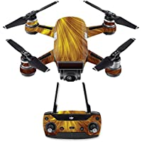 Skin for DJI Spark Mini Drone Combo - Golden Locks| MightySkins Protective, Durable, and Unique Vinyl Decal wrap cover | Easy To Apply, Remove, and Change Styles | Made in the USA