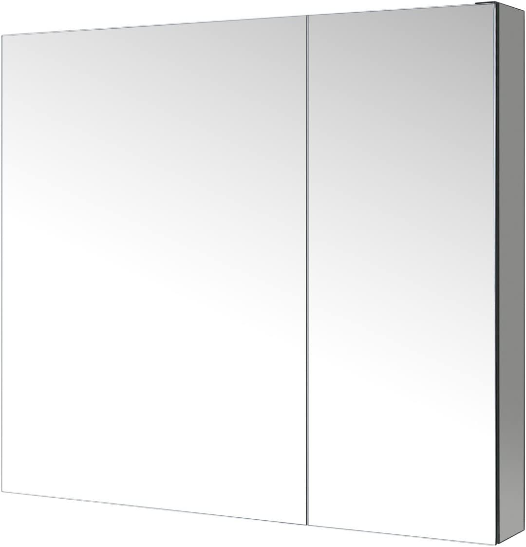 Virtu J-MED01A30 Confiant Mirrored Medicine Cabinet Recessed or Surface Mount, 30