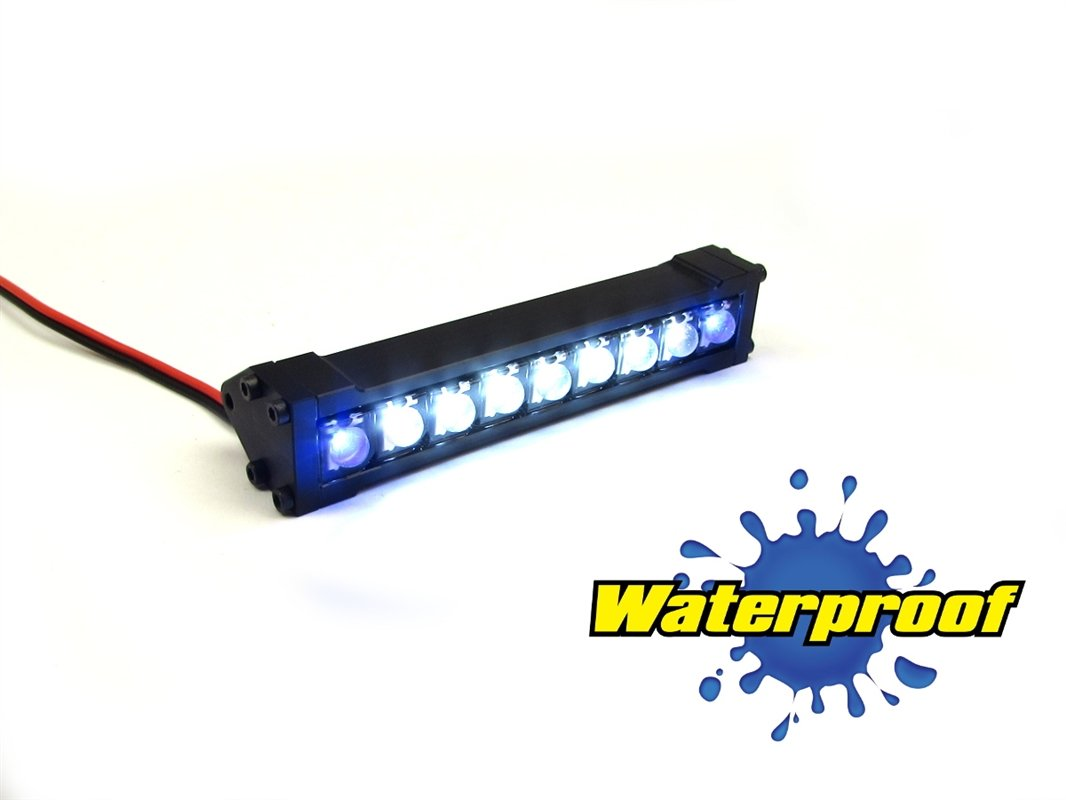 Gear Head RC 1/10 Scale Terra Torch 3'' LED Light Bar - White and Blue
