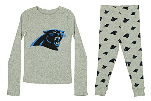 Outerstuff NFL Toddlers Pant and Long Sleeve Shirt Two-Piece Set, Carolina Panthers, 4T