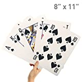 "8"" X 11"" Super Big Giant Playing Cards – Novelty Jumbo Cards for Kids, Teens or Seniors – Large Print – Poker Full Deck of Cards - Lowest Price on Amazon"