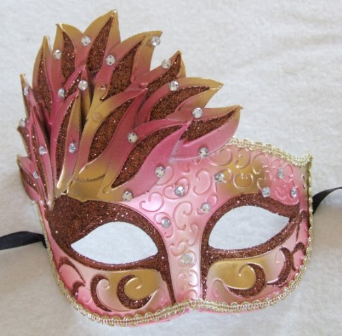 Diamond Girl Venetian Masquerade Halloween Goth Ball Party Mask Prom (New Orleans Costume)