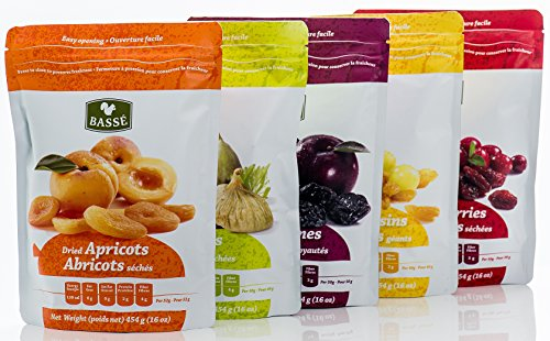 Mega Snack Pack, Over 15lbs of Dried Fruit, Trail Mixes, Nutsterz Spicy Peanuts, and Assorted Basse Nuts - Variety Pack of Superfoods and Healthy Snacks for Good Energy & Nutrition (27 Bags Total) by Basse (Image #2)