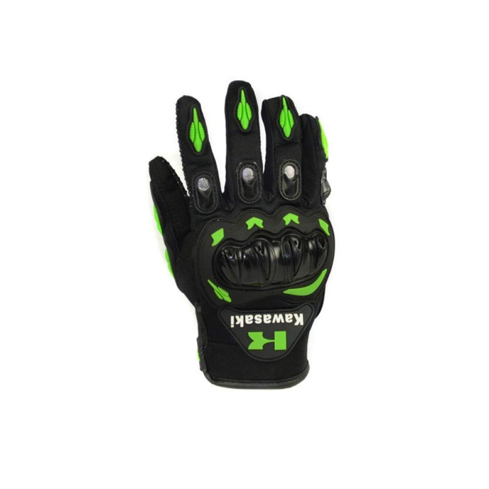 Berrd 1 paio di nuovi guanti da moto all-around moda Kawasaki guanti da motocross verde XL