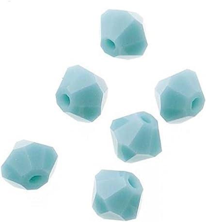 100pcs DARK GREEN 4mm Bicone Crystals Beads Jewellery DIY Craft Sun Catcher