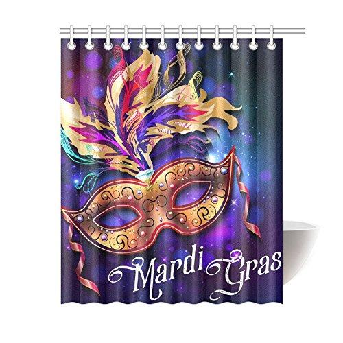 Custom Mardi Gras Masks - Happy More Custom Mardi Gras Mask Bathroom Waterproof Fabric Shower Curtain