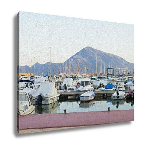 Ashley Canvas, Boats Moored In Harbour Near Denia Spain, Kitchen Bedroom Dining Living Room Art, 24x30, AG6314701 by Ashley Canvas