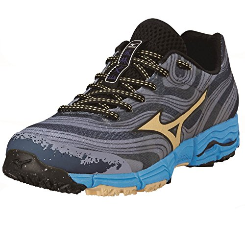 Mizuno Wave Kazan Women's Trail Running Shoes - AW14 Grey/Blue 5Og8BoX