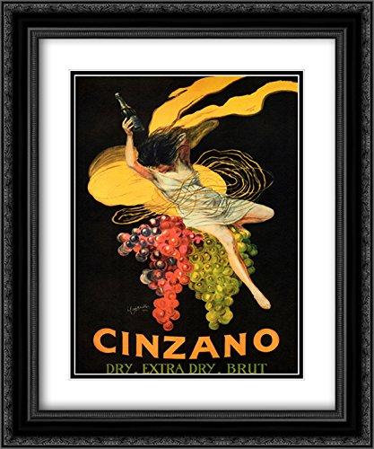 Cinzano Framed - Asti Cinzano 2X Matted 15x18 Black Ornate Framed Art Print by Leonetto Cappiello