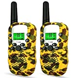 Toys for 4-5 Year Old Boys, WIKI Long Range Walkie Talkies for Kids Toys for 3-12 Year Old Girls Toys for 6-12 Year Old Boys Gifts for Teen Girls Gifts for Teen Boys Yellow WKUSDdd03