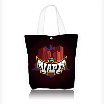 Amazon com: Canvas Tote Bag vape city vector word vape with