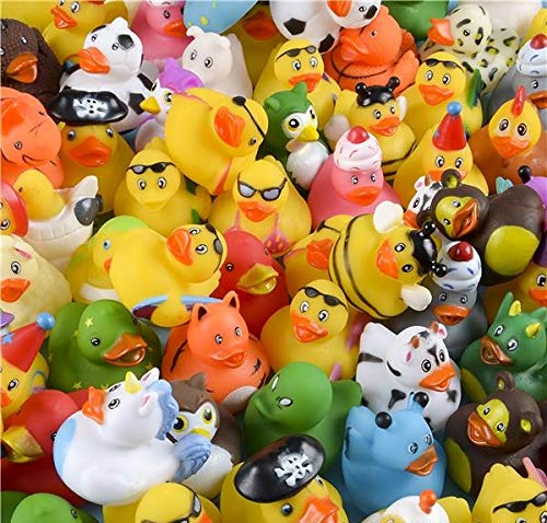Rhode Island Novelty Assorted Rubber Ducks | Set of 100 (Duck Plastic)