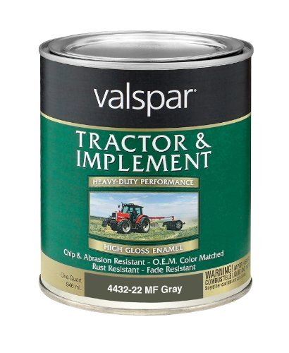 (Valspar 4432-22 Massey Ferguson Gray Tractor and Implement Paint - 1 Quart by Valspar)