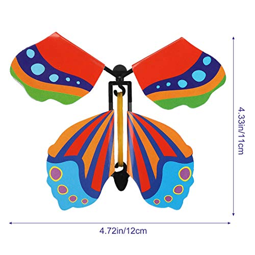 B bangcool 20PCS Magic Flying Butterfly Rubber Band Fairy Flying Butterfly Powered Wind up Butterfly Toy
