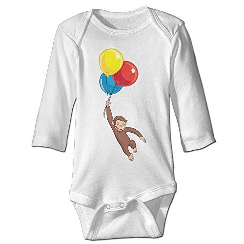 Baby Infants 100% Cotton Long Sleeve Onesies Toddler Bodysuit Curious George Jumping Clothes White Size 18 (Avengers Quiz)