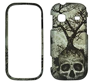 Night Skull Tree Samsung Gravity TXT T379 (T-Mobile) Case Cover Hard Phone Case Snap-on Cover Rubberized Touch Protector Faceplates