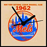 New York Mets, Vintage Mets Clock, 2 Sizes & 3 Designs to Pick From, Baseball Clock, Great Mets Fan Gift, Free Stand, Free Shipping Review