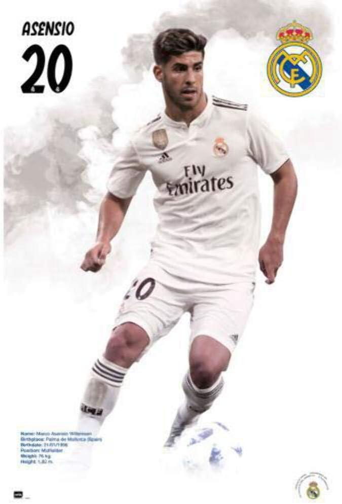 Erik Editores Poster Real Madrid 2018/2019 Asensio: Amazon.es: Juguetes y juegos