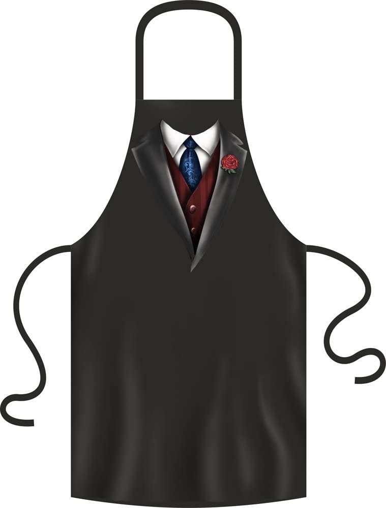 Smoking corbata Chaleco – Delantal Talla Única 100% algodón – BBQ ...