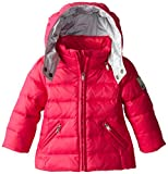 Diesel Baby Girls' Jimib Down Hooded Jacket, Fuchsia, 12 Month