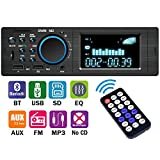 Single Din Car Stereo CD Player - Bluetooth Audio and Hands-Free Calling, MP3 Player, CD, USB Port, AUX Input, AM/FM Radio Receiver