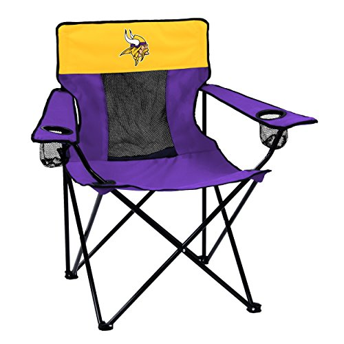 Logo Brands NFL Minnesota Vikings  Folding Elite Chair with Mesh Back and Carry Bag ,  Purple,  One Size from Logo Brands