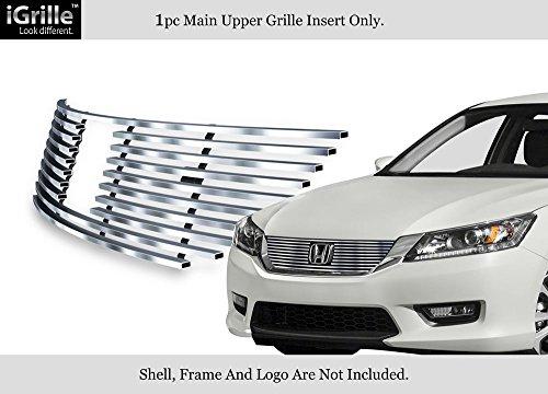 - Fits 2013-2015 Honda Accord Sedan Upper Stainless Steel Billet Grille Insert #H65916C
