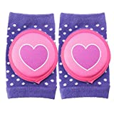 MerryShop Baby Crawling Knee Pad Toddler Elbow Protective Pads Crawling Safety Protector- Indoor / Outdoor Use (Purple)