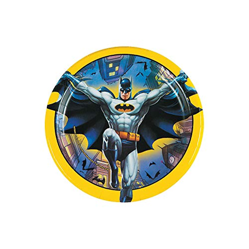 Fun Express - Batman Dessert Plates (8pc) for Birthday - Party Supplies - Licensed Tableware - Licensed Plates & Bowls - Birthday - 8 Pieces]()