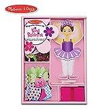 Melissa & Doug Nina Ballerina Magnetic Dress-Up Set (Pretend Play, 6 Outfits, Encourages Creativity, 27 Magnetic Pieces, 29.464 cm H x 21.971 cm W x 2.667 cm L)