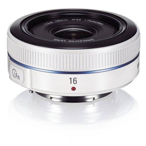 Samsung NX 16mm f/2.4 Camera Lens (White) by Samsung