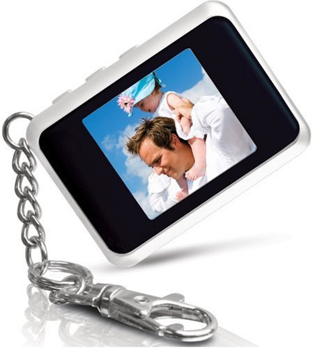 Coby DP151WHT 1.5-Inch Digital TFT LCD Photo Keychain, White ()