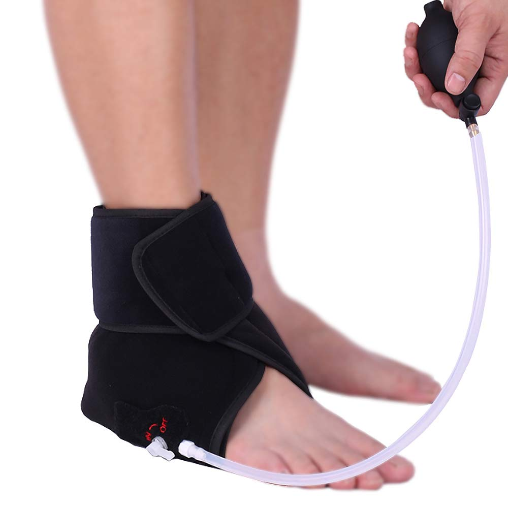 Hot/Cold Therapy & Air Compression Ankle Support Wrap for Alleviating Ankles Pain Arthritis Swelling Sports Injuries Plantar Fasciitis and Increase Circulation by Medibot