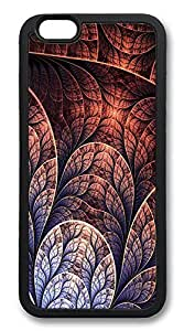 ACESR Abstract Leaf Stylish iPhone 6 Case TPU Back Cover Case for Apple iPhone 6 4.7inch Black hjbrhga1544