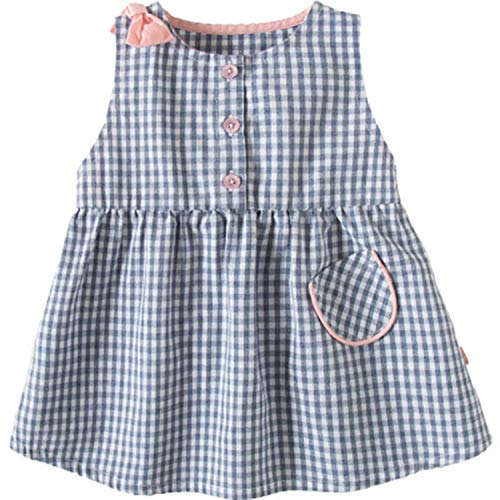 (Baby Girl Dress Children Plaid Ruffles Latticed Dresses Set Toddler Summer Clothes Set First Birthday Outfit Gray Dress)