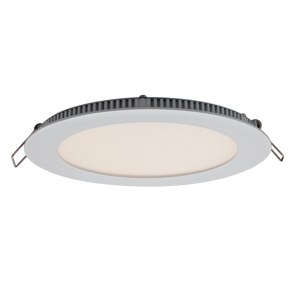 Dals Lighting USA DALS White Aluminum 3-inch Round 6W LED Recessed Panel Ceiling Light 6'' 12W