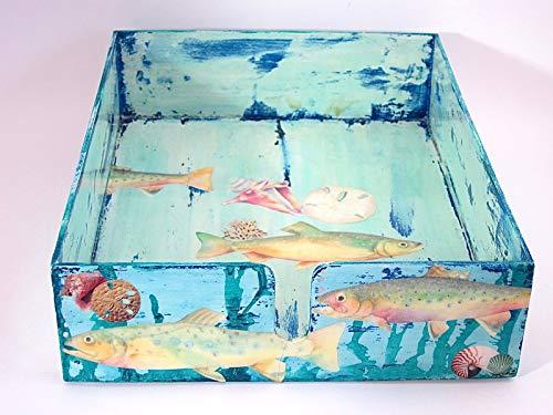 (Underwater Themed Decoupage Tray)