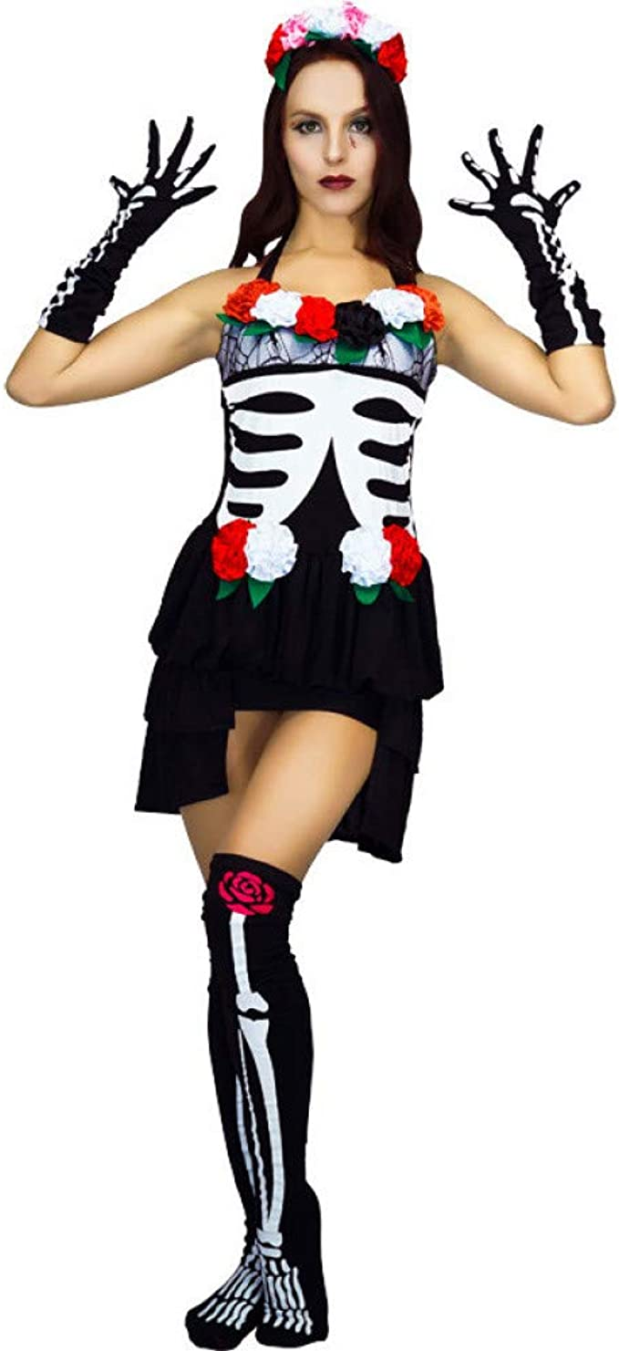 ZAOWEN Disfraz De Halloween Disfraz De Novia De Vampiro ...