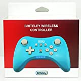 Briteley Pro Controller Wireless for Wii U with USB Charge Cable, Blue