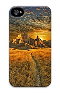 Badlands sunrise Custom iPhone 4s/4 Case Cover Polycarbonate 3D Thanksgiving Day gift