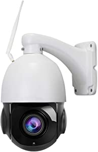 PTZ IP Camera Outdoor, Wireless WiFi Connection, 20X Optical Zoom, HD 1080P 2.0 Megapixel, 328ft IR Night Vision, Auto Focus, Varifocal Lens, SD Card Solution, Onvif, Motion Detect, 2 Way Audio