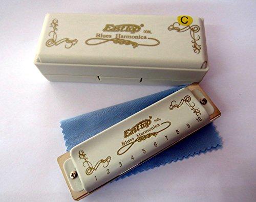Easttop T008L 10 Hole Professional Diatonic Blues Harmonica (C)