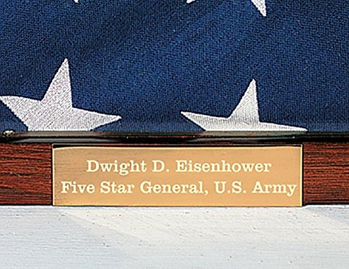 5'X9.5' Military Flag Display Case Memorial with Personalized Brass Plaque and Frame Mat (Personalized)