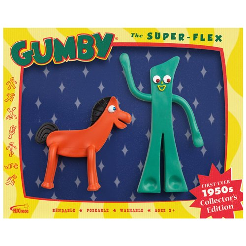 1950s Collector's Edition The Super-Flex Retro Gumby And Pokey Bendables Set