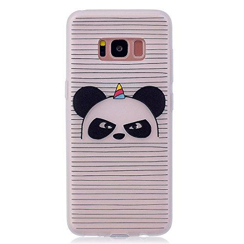 Funda Samsung Galaxy S8,XiaoXiMi Carcasa de Silicona TPU Suave y Esmerilada Funda Ligero Delgado Carcasa Anti Choque Durable Caja de Diseño Creativo - Mariposa Angry Panda