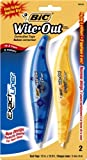BIC Wite-Out Brand Exact Liner Correction Tape, White, 2-Count (3 packs, 6 Tapes total)