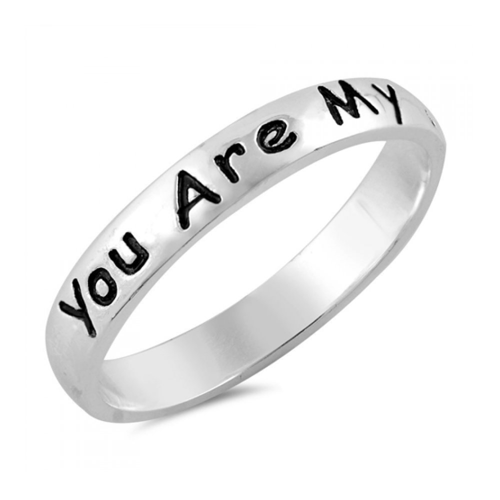 925 Sterling Silver You Are My Sunshine Ring Glitzs 11328