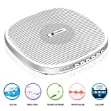 White Noise Machine, Elivebuy Portable Sound Machine, Sleep Sound Therapy Machine with 20 Soothing Natural Sounds Music for Baby,Kids,Adults. Built in USB Output & Timer(Slim Design)